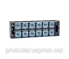 Клеммная колодка 6-разрядная TB-4506 45A - 600V, сечение провода 0,5-4,0 мм2