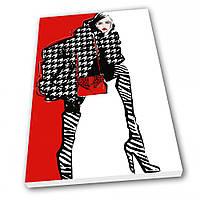 Картина на холсте Kronos Top Мода Девушка в пальто 80 х 120 см lfp126471520680120, КОД: 740076