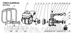 Мотопомпа 5,5 л. с. Hmax 30м Qmax 30м3/год (4-х тактний) LEO (772511), фото 2