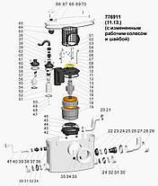 Каналізаційна станція 0.37 кВт Hmax 6.5 м Qmax 80л/хв LEO, фото 2