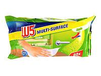 Салфетки для уборки влажные универсальные W5 Multi-Surface Apfel