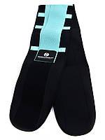 Пояс-корсет для поддержки спины ONHILLSPORT (черно-бирюзовый)