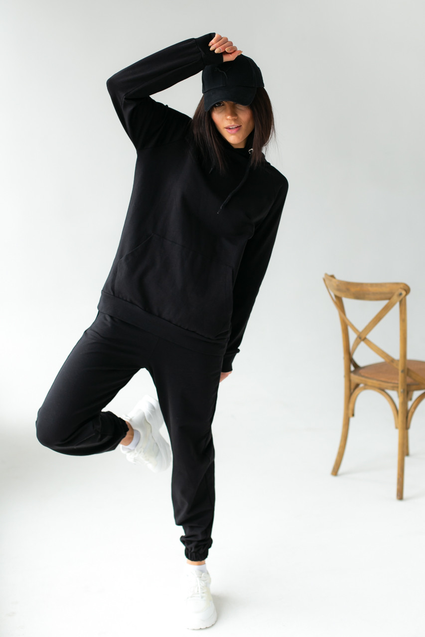 Спортивный костюм из худи и джоггеров DISPATCH - черный цвет, L (есть размеры)