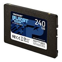 """Накопичувач SSD 2.5"""" 240GB Patriot Burst Elite (PBE240GS25SSDR) R560MBs W540MBs SATA III 7мм новий"""