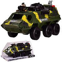 Бронетранспортер инерц. 939A-2(12шт)с военным, под слюдой 32.5*19*16.5 см, р-р игрушки – 31.5*14.5*15