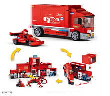 Конструктор M38-B0375 Racing team станція обслуговування боліда 2в1 557дет.кор.52*6,7*33 /12/