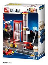 Конструктор M38-B0628 Fire пожежна частина 425дет.кор.42,5*6,7*28,5 /16/