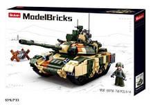 Конструктор M38-B0756 Model Bricks танк 758дет.кор.53*6,7*33 /12/