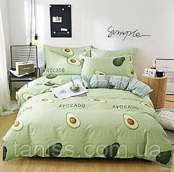 Двухспальный набор постельного белья Бязь Голд, расцветка как на фото, авокадо