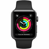 Смарт-годинник Apple Watch Series 3 GPS 42mm Space Gray with Black Sport Band (MTF32)