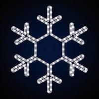 Светодиодная фигура снежинка LUMIERE 0.45*0.45 м, белая