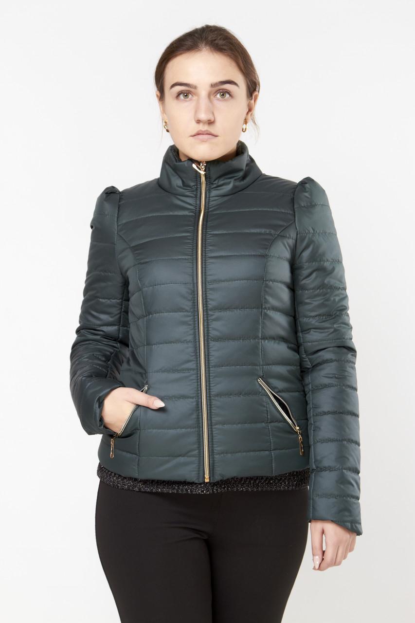 Осіння жіноча куртка Exclusive 2015 зелений знижка