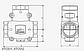 """Термический клапан трехходовой 1 1/2"""" ESBE VTC512 55°C Kv-14, фото 3"""