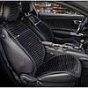 Накидка на сидіння з алькантари чорні Elegant Napoli 700 216 (передні)
