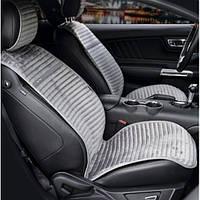 Накидки алькантара серые на сиденья авто Elegant Napoli 700 213 (передние)