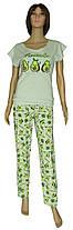 Пижама женская трикотажная, футболка и брюки 21008 Avokado коттон Оливковая