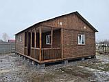 Дачный домик 6м*8,5м включая  террасу, фото 3