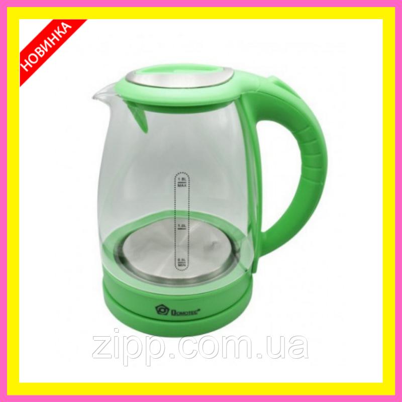 Електрочайник Скляний чайник електричний чайник електричний Електрочайник DOMOTEC MS-8112 Чайник
