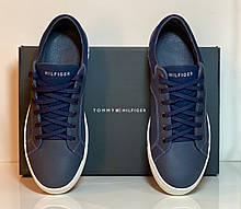 Кеды Tommy Hilfiger синие натуральная кожа