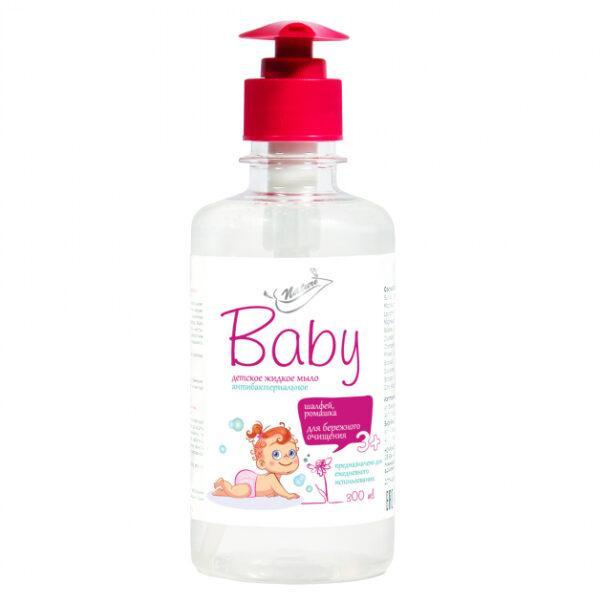 Жидкое детское мыло Bioton Cosmetics Nature Baby антибактериальное, с шалфеем и ромашкой, с 3 лет, 300 мл