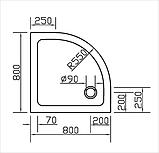 Піддон EGER SMC 599-8080R fullset, фото 2