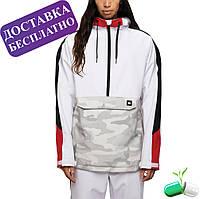 Куртка для сноуборда жіноча (Анорак) White Colorblock, 686
