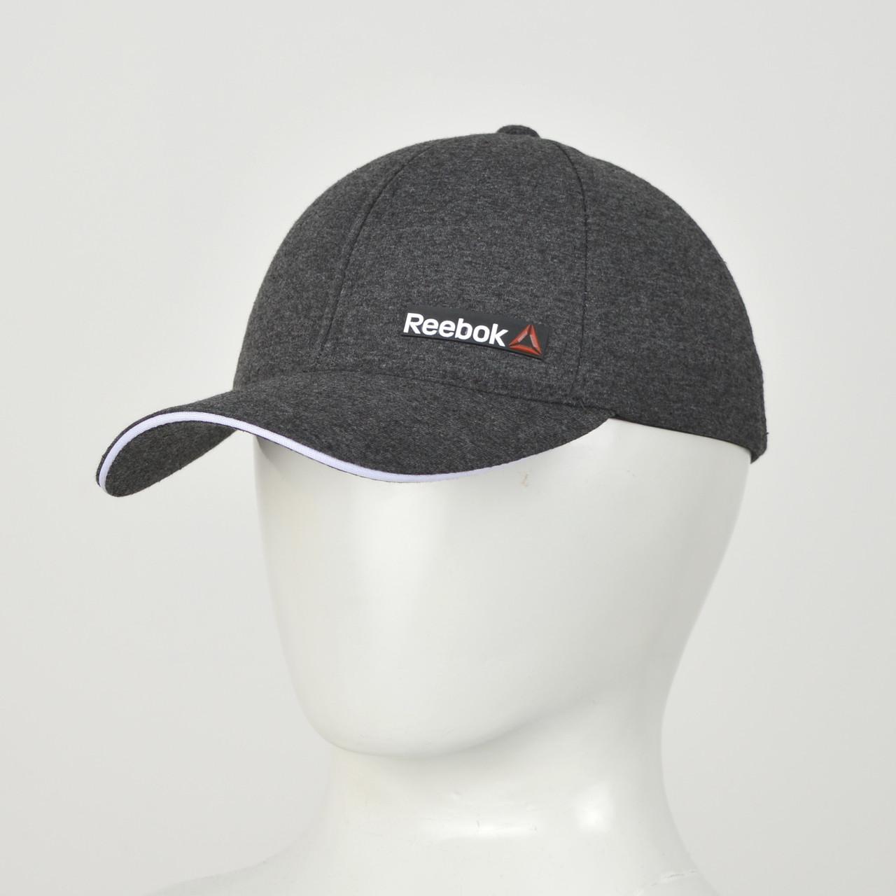 Бейсболка Трикотаж  Reebok (реплика) серый