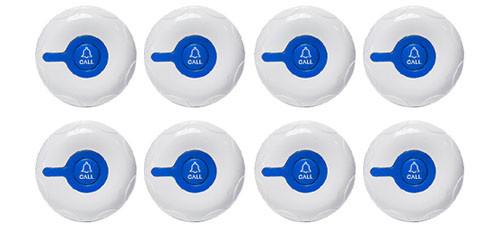 Фото: кнопки вызова персонала RECS R-300 Blue - 8 штук - комплект системы вызова RECS №20