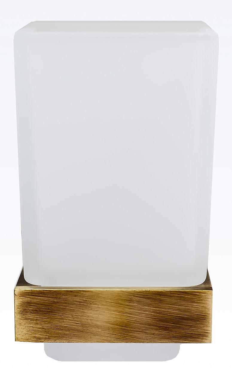 Стакан для зубных щеток и пасты серия Viya бронза
