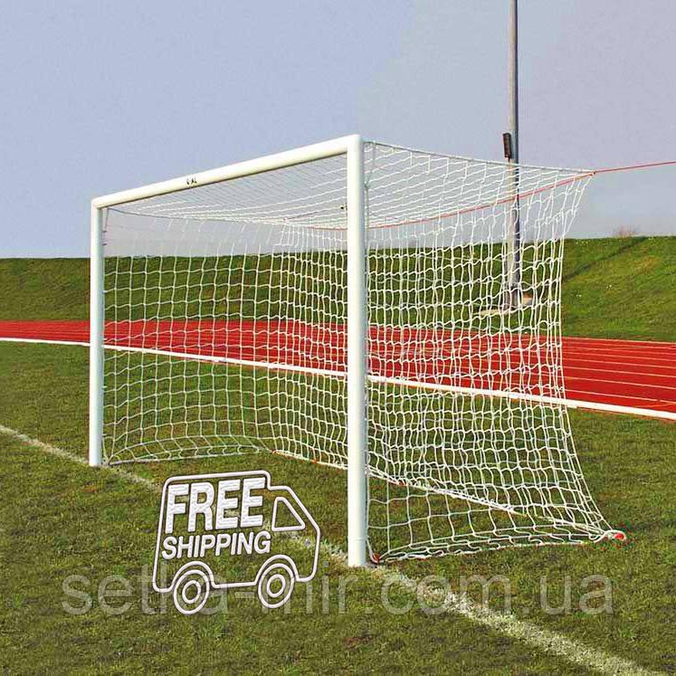 Сетка для футбола повышенной прочности «ЭКСКЛЮЗИВ 2,1» белая (комплект из 2 шт.)