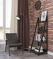 Стеллаж в стиле лофт металлическое основание на 4 полки, этажерка лофт стиль серии Дуо Металл-Дизайн
