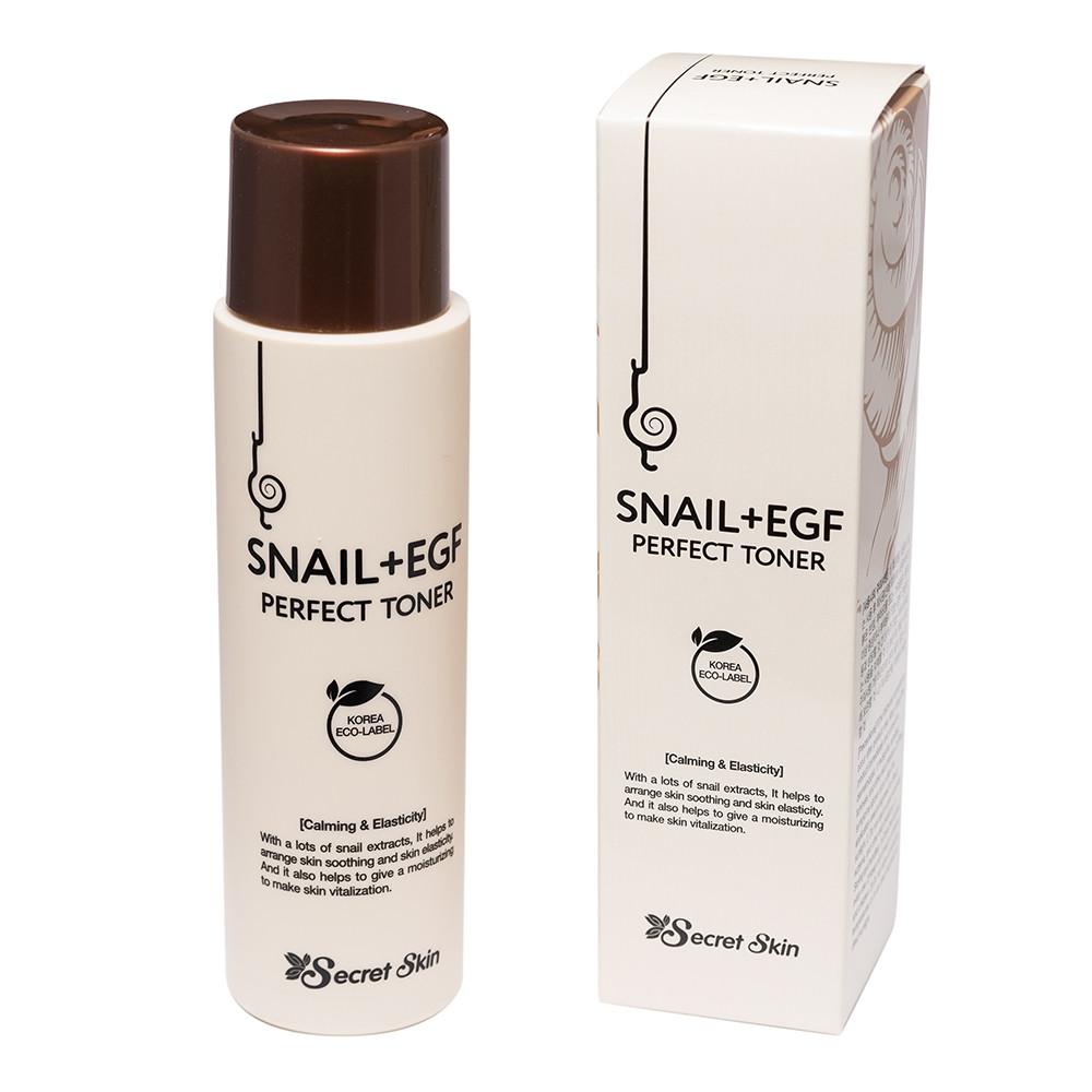 Тонер для лица с муцином улитки Secret Skin Snail+Egf Perfect Toner 150ml (Потёртая упаковка)