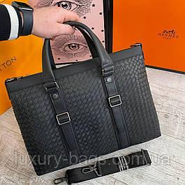 Мужской кожаный портфель Боттега Венета Bottega Veneta