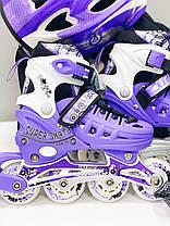 Ролики для девочки 29-33 р - Детские ролики комплект с защитой Scale Sport, фото 2