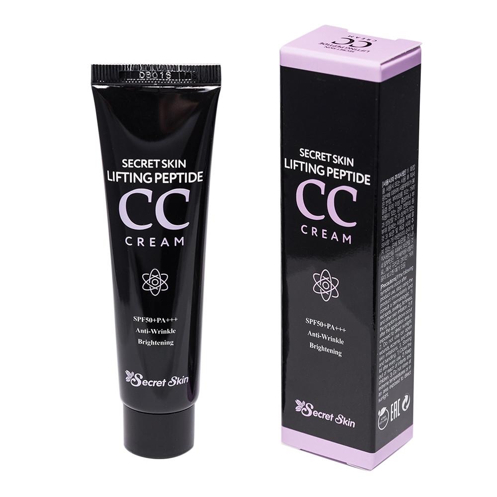 Пептидный СС крем с лифтинг-эффектом Secret Skin Lifting Peptide CC Cream SPF50+ PA+++ 30ml (Мятая упаковка!)