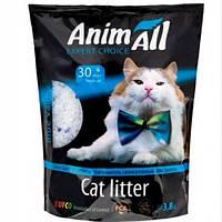 Силикагелевый наповнювач AnimAll Кристали аквамарину для котів 3.8 л