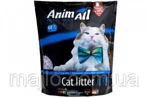 Силикагелевый наповнювач AnimAll Кристали аквамарину для котів 7.6 л
