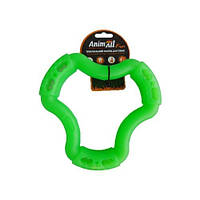 AnimAll Игрушка Fun кольцо 6 сторон, зеленое, 15 см (88215)