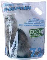 Наполнитель для кошачьего туалета Пушистик Силикагелевый впитывающий 3,5 кг (7.2 л) (4820216670028)