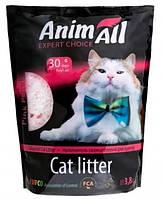 Силикагелевый наполнитель AnimAll Кристаллы Розовый лепесток для котов 3.8 л