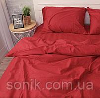 Комплект постельного белья Красный   Двуспальный   Бязь Gold Lux