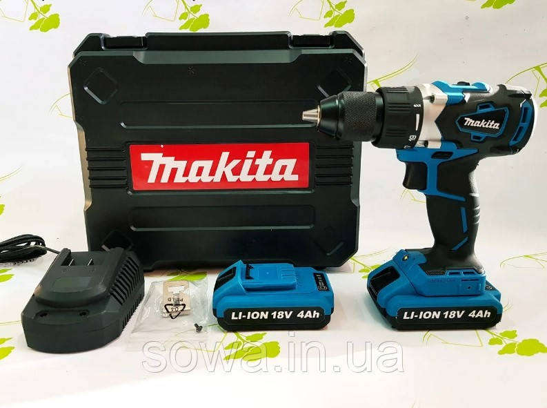 Акумуляторний шуруповерт Makita DDF482RMJ : 18V : 4A.h