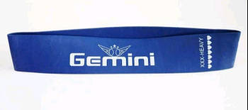 Резинка эспандер лента для фитнеса Gemini xхx-heavy сопротивление 25 кг синяя