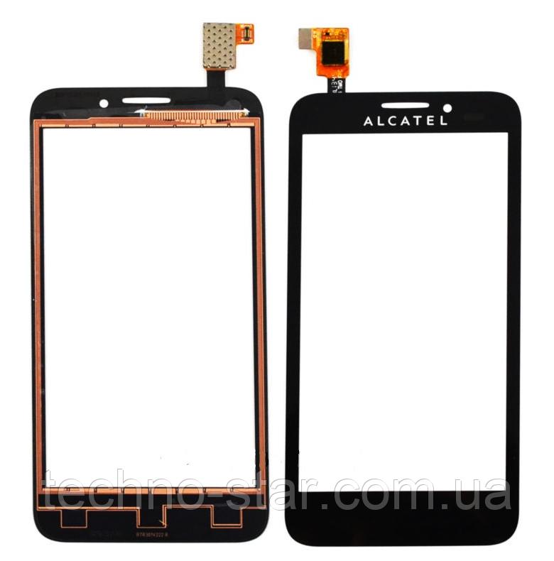 Оригінальний тачскрін / сенсор (сенсорне скло) для Alcatel One Touch Snap OT-7025 | OT-7025D (чорний колір)