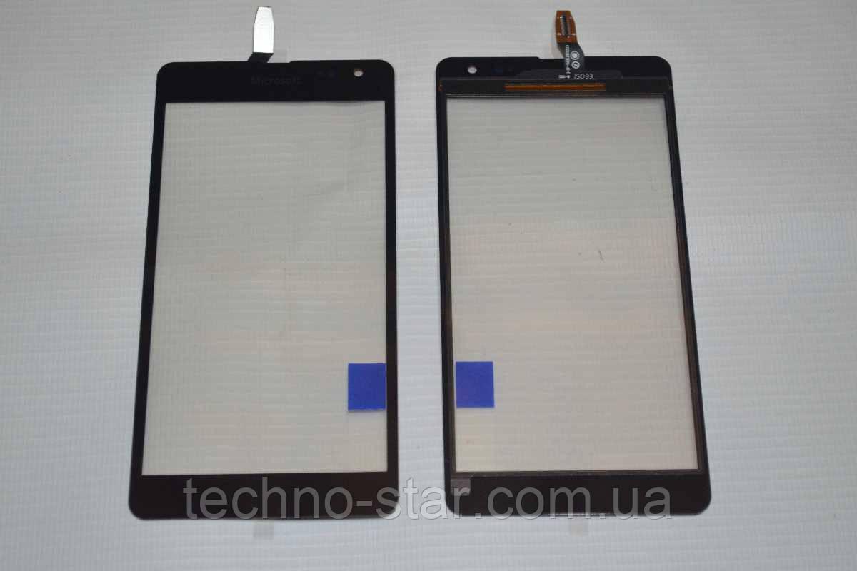 Оригінальний тачскрін / сенсор (сенсорне скло) Microsoft Lumia 535 (чорний колір, CT2S1973FPC-A1-E)