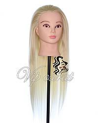 Учебная голова манекен для причесок с натуральными волосами 30% / манекен для парикмахера
