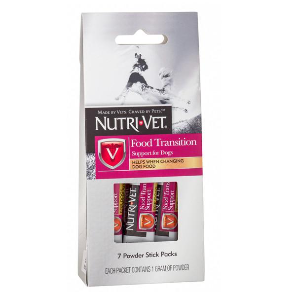 Пищевая добавка Nutri-Vet Food Transition Support для собак с пребиотиками и полезными бактериями, (1 г)