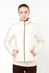 Осенняя женская куртка  Exclusive 2015 молочный скидка