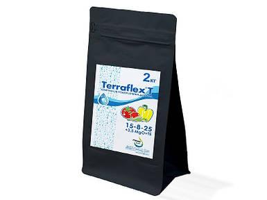 Удобрение Terraflex T 15-8-25+3,5MgO+TE, 2 кг - Терафлекс