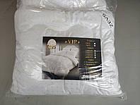 """Одеяло-покрывало летнее холлофайбер микрофибра Евро ТМ """"ZEVS"""" VIP 200 x 220 см белое"""